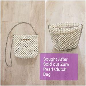 Zara Pearl Clutch Cross Body Bag